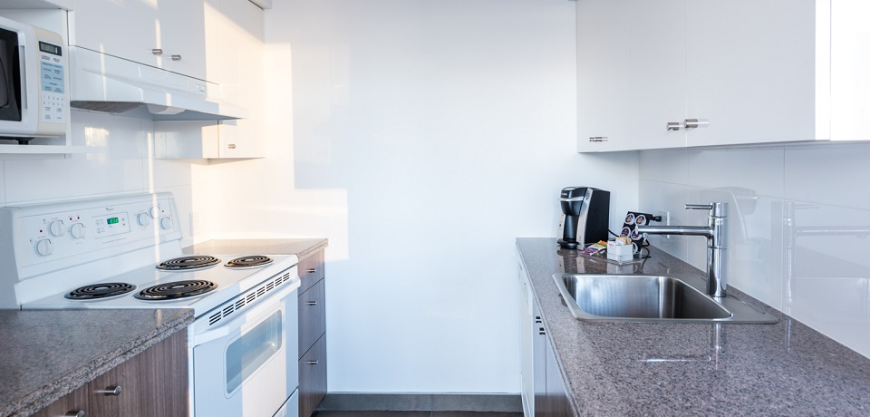 Carmana Plaza Hotel - Downtown Vancouver - Executive One Bedroom Suite (fully equipped kitchen)